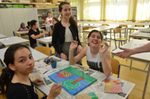 malejn beim aktionstag für flüchtlinge