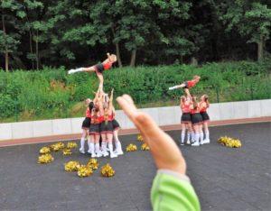 "Cheerleader beim ""Run for Fun"""