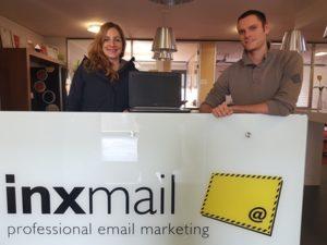 Abholung der Laptops bei Inxmail