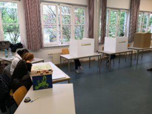 Wahlbüro an der Ida-Ehre-Schule