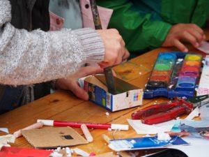 Malen in der Lichtwarkschule