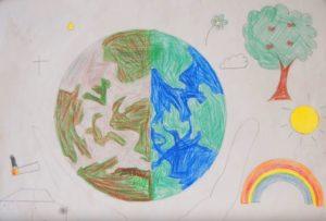"""gemaltes Bild """"Unsere Erde"""""""