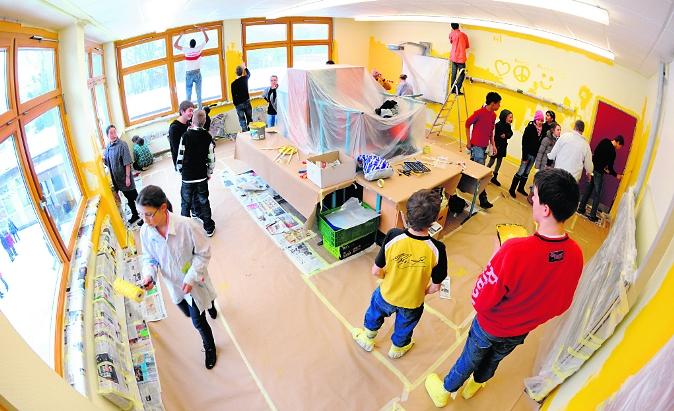 Klassenraum streichen