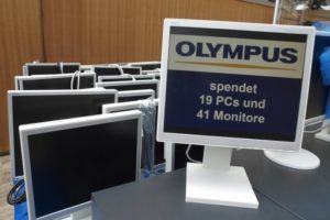 olympus spendet gebrauchte hardware