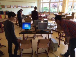 Schüler im PC-Raum