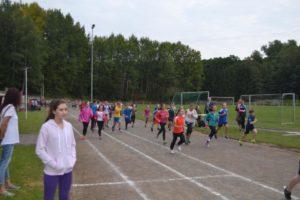 Schüler auf der Laufstrecke