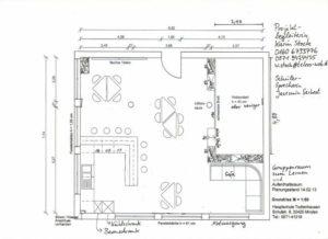 Skizze des Oberstufen-Raums
