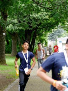 läufer der sambergschule sponsorenlauf