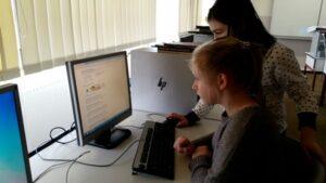Wir stehen für mehr Interaktivität im Unterricht-Sekundarschule Wladimir Komarow