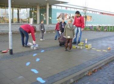 Die Grundschule Lamme makiert die Gartenform