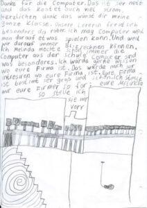 Melinda (Schülerin der Grundschule Enger) sagt Danke im Namen aller Schüler