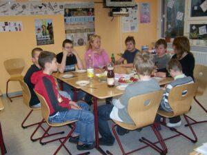 Schüler der Schule für Erziehungshilfe während der Projektwoche