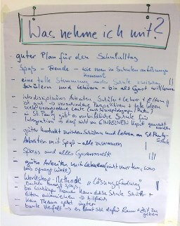 Ergebnisse Integrationsworkshop