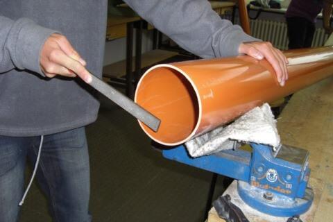 Beaarbeitung der Röhre IGS Vahrenheide
