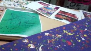Vorbereitungen an der Oberschule Böhlen um den Klassenraum zu streichen