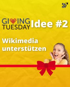 Wikimedia -Giving Tuesday