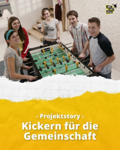 Kickern für die Gemeinschaft