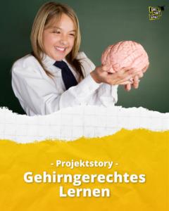 Mädchen hält Gehirn