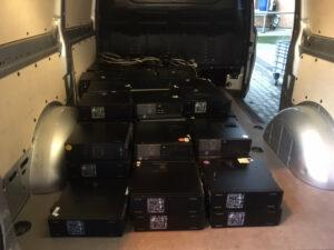 PCs liegen im Transporter
