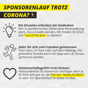 Sponsorenlauf trotz Corona