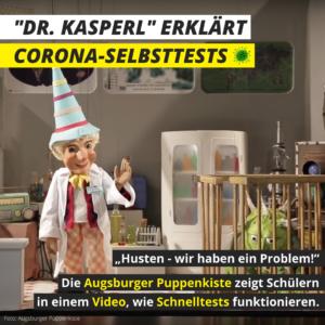 """""""Dr. Kasperl"""" erklärt Corona-Selbsttests"""