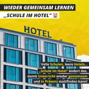 Schule im Hotel