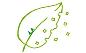 Logo aus grünem Blatt
