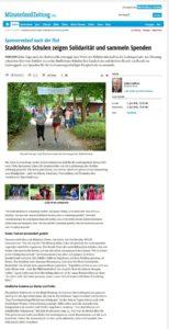 Münsterlandzeitung vom 5.7.2016 Sponsorenlauf