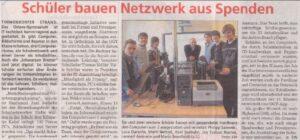 Wochenspiegel berichtet über IT-Projekt