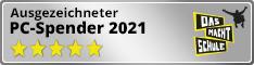 """Siegel """"ausgezeichneter PC-Spender 2021"""" Half Banner"""