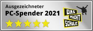 """Siegel """"ausgezeichneter PC-Spender 2021"""" Rectangle"""